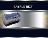 Bakgrund med krom belägger med metall pressar skytteln Arkivfoton