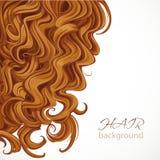 Bakgrund med lockigt brunt hår royaltyfri illustrationer