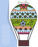 Bakgrund med luftballongen på papper och ställe för text Fotografering för Bildbyråer
