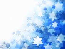 Bakgrund med Magen David stjärnor royaltyfri illustrationer