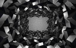 Bakgrund med metallkuber Arkivbilder