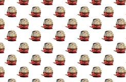 Bakgrund med muffin Arkivbilder