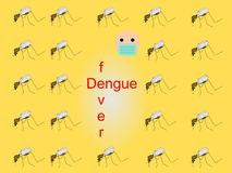 Bakgrund med myggor Arkivfoton