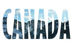 Bakgrund med ordet Kanada Bokstäver gjordes från bakgrunder Arkivbilder