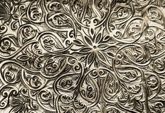 Bakgrund med orientaliska prydnadar Arkivfoto