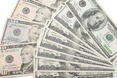 Bakgrund med pengar amerikanska dollar Fotografering för Bildbyråer