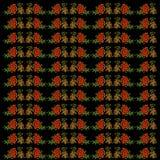 Bakgrund med rönnbäret, gräsplan och bladguld Arkivfoto