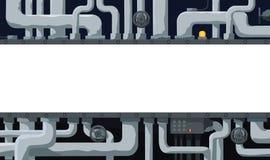 Bakgrund med rörledningen, ventiler och textfältet i mitten Royaltyfri Bild