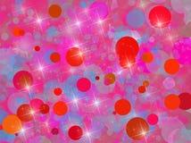 Bakgrund med rött cirklar Arkivfoto
