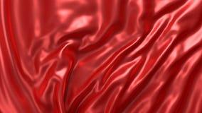 Bakgrund med rött silke Grafisk illustration framförande 3d Royaltyfria Foton