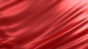 Bakgrund med rött silke Grafisk illustration framförande 3d Royaltyfri Fotografi