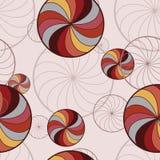 Bakgrund med roterande cirklar Arkivbild