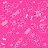 Seamless Makeup mönstrar Royaltyfri Illustrationer