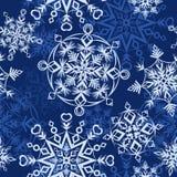 Bakgrund med snowflakes Royaltyfria Bilder