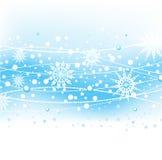 bakgrund med snowflakes stock illustrationer