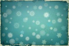 Bakgrund med Snowflakes Arkivfoton
