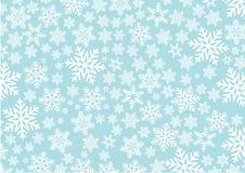 Bakgrund med snowflakes Arkivfoto