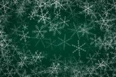 Bakgrund med Snowflakes Arkivbilder