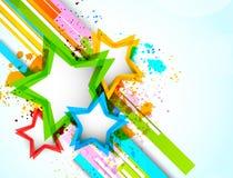 Bakgrund med stjärnor stock illustrationer