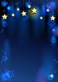Bakgrund med stjärnor Fotografering för Bildbyråer