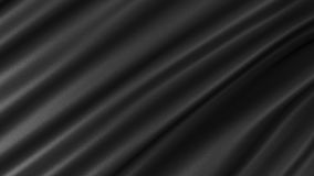 Bakgrund med svart silke Grafisk illustration framförande 3d Royaltyfri Bild