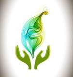 Bakgrund med symbolen för ekologisk miljö Royaltyfria Foton