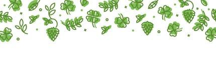 Bakgrund med symboler på Sts Patrick dag stock illustrationer