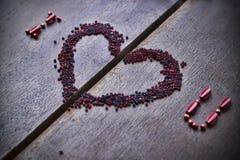 Bakgrund med text älskar jag dig för valentins dag Arkivbilder