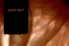 Bakgrund med textasken Royaltyfria Bilder