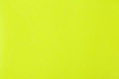 Bakgrund med textur av gult läder Arkivfoton