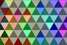 Bakgrund med trianglar av många färger Fotografering för Bildbyråer