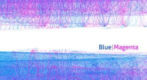 Bakgrund med tunna hårlinjer av blå och magentafärgad färg var kan formgivare varje för objektoriginal för evgeniy diagram självs vektor illustrationer