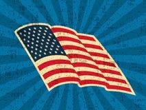 Bakgrund med USA flaggan Arkivfoton