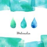 Bakgrund med vattenfärgbeståndsdelar Arkivbild