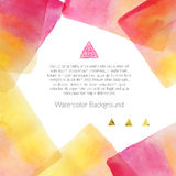 Bakgrund med vattenfärgbeståndsdelar Royaltyfri Bild