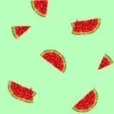 Bakgrund med vattenmelon Arkivbild