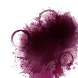 Bakgrund med vinfläckar, fläckar, dropprött vin Fläckar för vinexponeringsglas Bakgrund för baner och befordrings- affischer royaltyfri illustrationer