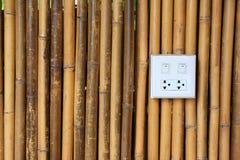 Bakgrund med vit bambu Arkivbilder