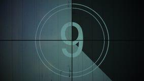 Bakgrund nio för nummer 9 för filmtappningnedräkning stock illustrationer