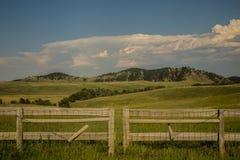 Bakgrund och staket i Custer State Park i South Dakota royaltyfri fotografi
