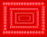Bakgrund och textur gjorde ‹för †med dekorativa röda bollar Royaltyfri Illustrationer