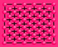 Bakgrund och textur gjorde ‹för †med dekorativa rosa bollar Royaltyfri Illustrationer