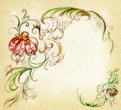 bakgrund originella tecknade element Arkivfoto