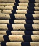 Bakgrund på den wood kabinen med skugga Arkivbilder