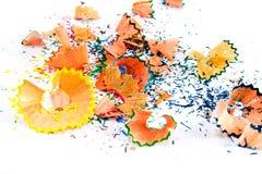 bakgrund pencils sawdust fotografering för bildbyråer