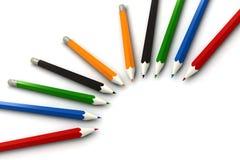 bakgrund pencils white Royaltyfri Foto