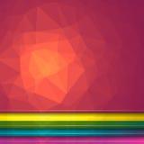 Bakgrund Poligon för ljus effekt Uppsättning av fem geometriska triangulära illustrationer Webbplatstitelrader Royaltyfria Bilder