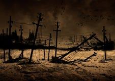 Bakgrund postar apokalyps Royaltyfri Bild