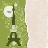 bakgrund retro paris Arkivbilder