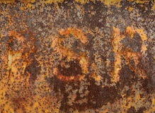 Bakgrund - rostad metall Royaltyfri Fotografi